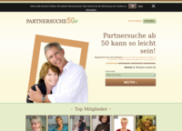 Partnersuche-50.de Screenshot